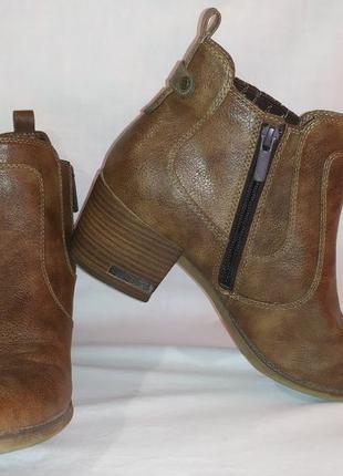 Ботинки на каблуке Original mustang true denim мужские 41 размер