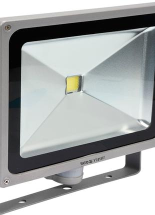 Светодиодный прожектор с датчиком движения 220Вольт 50Ватт 300х28
