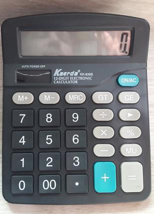 Калькулятор электронный KK 838 настольный 12-разрядный