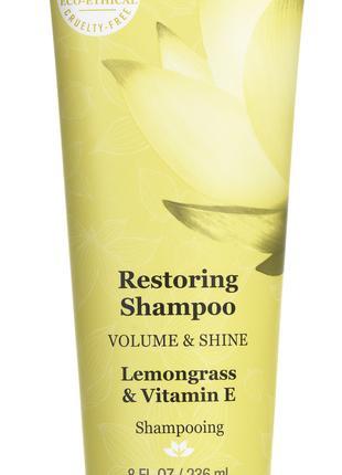 Восстанавливающий шампунь Масло лемонграсса витамин Е Dermа Е США