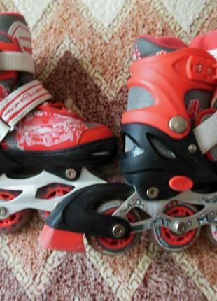 Роликовые коньки (раздвижные) profi roller.