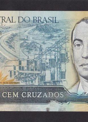 100 крузейро  1987г. Бразилия.  А2095037506А. Пресс.