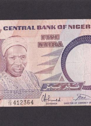 5 найра  1984г.  Нигерия. 412364.