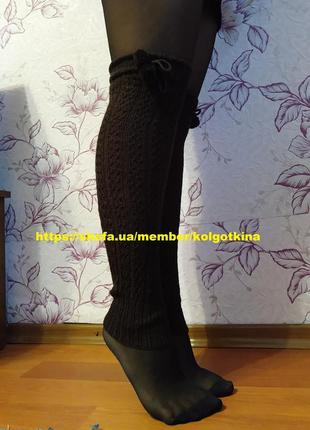 Гетри високі теплі гетры высокие теплые за колено женские кори...