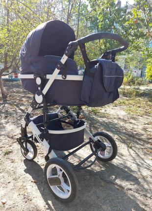 Универсальная коляска трансформер 2 в 1 Viva Kids Province Q7 Син