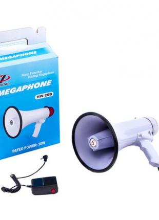 Громкоговоритель мегафон Yaochen HW 20B 30W HW-20 рупор Megaphone