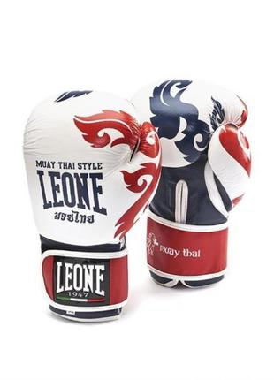 Боксёрские перчатки 10 унций boxing gloves ''leone muay thai''
