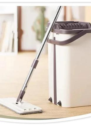 Швабра с ведром и автоматическим отжимом Scratch Cleaning Mop