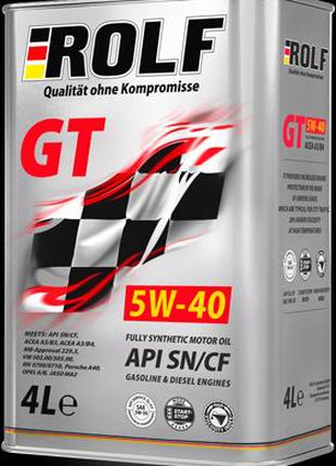 Моторное масло ROLF GT 5W-40 SN/CF