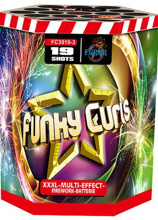 Фейерверк на 19 выстрелов Funky Curls (калибр 30мм)