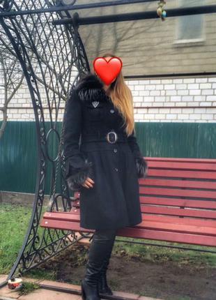 Раслов пальто зимнее 44-52 М  размер с мехом енота
