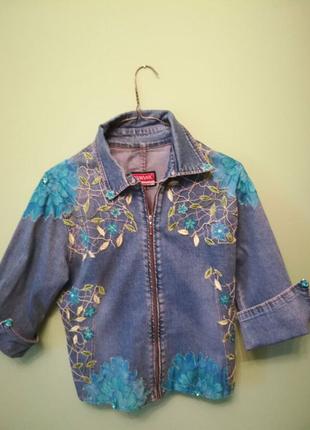 Джинсовая куртка, жакет Sensor ручная работа