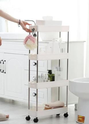 Складная полка для кухни и ванной на колесиках