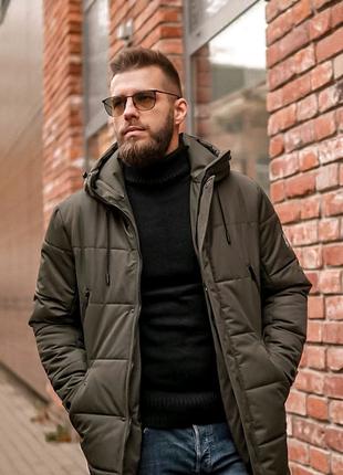 ЗИМНЯЯ куртка 2021 хаки мужчинам