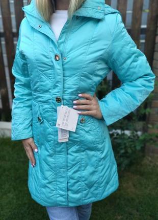 Куртка теплая женская удлиненная с капюшоном
