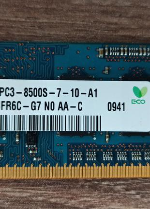 Оперативная память для ноутбука Hynix SODIMM 1Gb DDR3 8500 1066MH