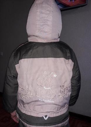 Комбинезон куртка штаны зеленый хаки на мальчика зима осень