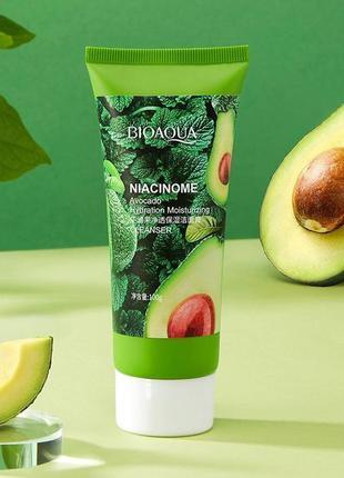 Пенка для умывания bioaqua niacinome avocado с экстрактом авок...