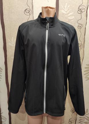 Crivit outdoor черная демисезонная куртка, ветровка