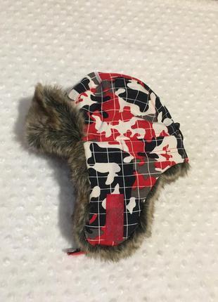Шапка ушанка 52 размер,шапка с мехом,зимняя шапка ушанка