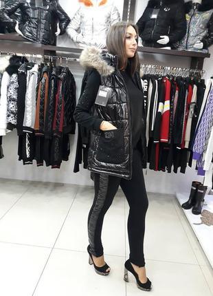 Женский турецкий прогулочный спортивный костюм с жилетом турци...