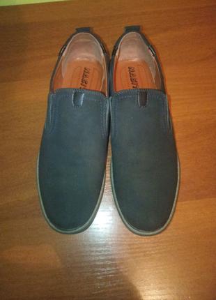 Туфли замшевые  мужские