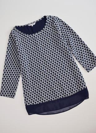 Блуза свободного кроя в принт сердечки redhering, размер 12