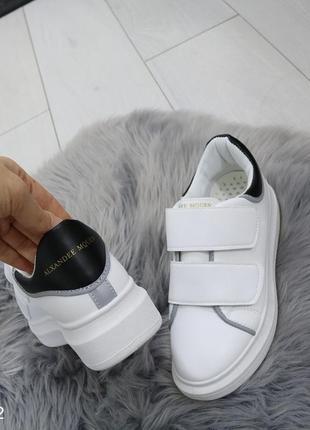 Женские белые кеды с эко кожи
