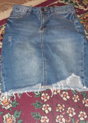 Юбка джинсова жіноча