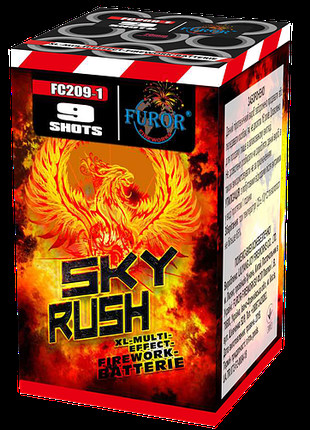Фейерверк на 9 выстрелов Sky Rush (калибр 20мм)