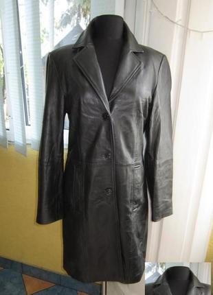 Классическая  женская кожаная куртка-плащ gipsy by mauritius. ...