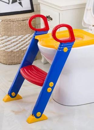 Детское сиденье на унитаз со ступенькой и ручками. Сиденье на ...