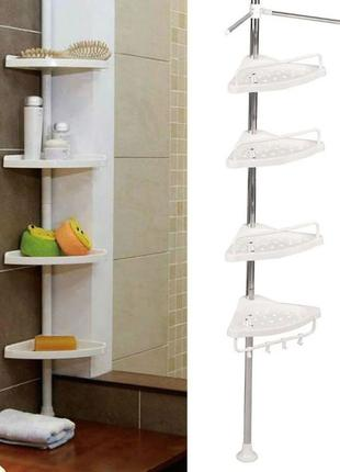 Угловая полка для ванной Multi Corner Shelf, органайзер шкаф