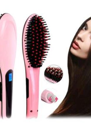 Расческа выпрямитель Fast Hair Straightener. Цвет: розовый