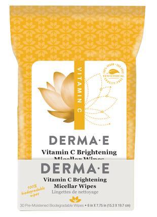 Влажные салфетки для лица с витамином C Derma E США