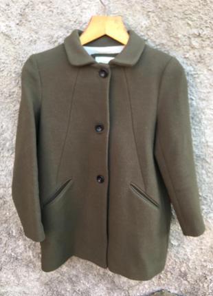 Шерстяное пальто zara на 9-10лет