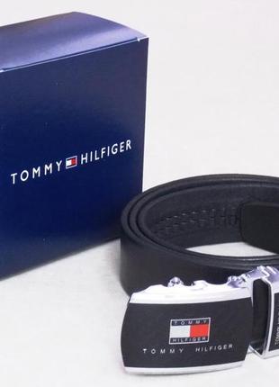 Мужской кожаный ремень-автомат tommy hilfiger