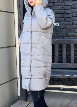 Пальто одеяло пуховик оверсайз зимний