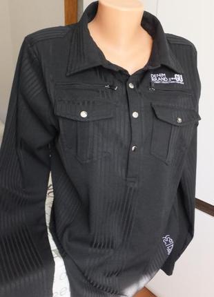 Брендовая тенниска рубашка gu 613 urban wear с длинным рукавом...