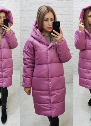 Пальто пуховик зимний