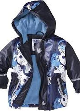 Непромокаемая куртка на флисе дождевик lupilu на 6 - 8 лет гер...