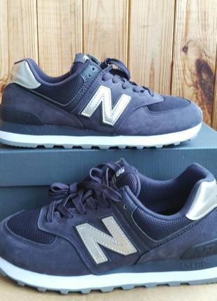 Стильные замшевые кроссовки new balance 574 оригинал