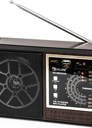 Радиоприемник Golon RX-9922 UAR USB+SD приёмник радио