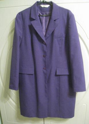 Стильный удлиненный пиджак жакет р.56