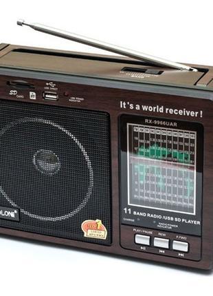 Радиоприемник Golon RX-9966 UAR USB+SD приёмник радио RX 9966
