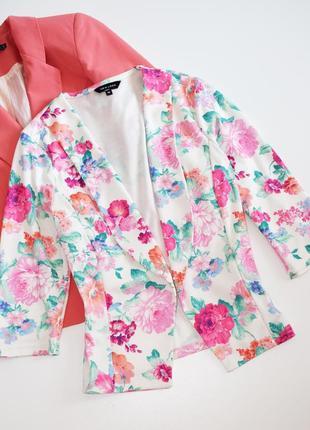 Симпатичный пиджак жакет в цветочный принт new look,