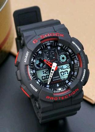 Наручные часы Casio G-Shock GA-100 Black-Red