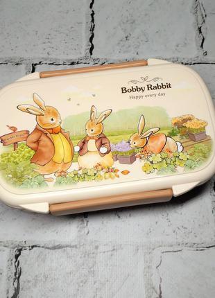 Ланчбокс Зайчики кролики, ланч бокс, контейнер для еды