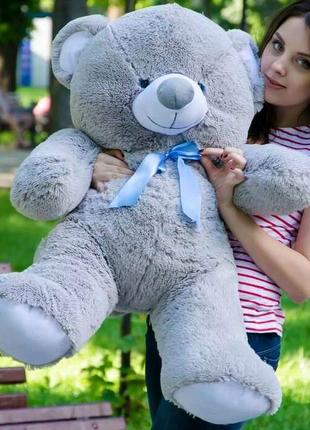 Плюшевый медвежонок 1метр, серый