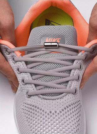 Шнурки для обуви эластичные с металлическими фиксаторами концов